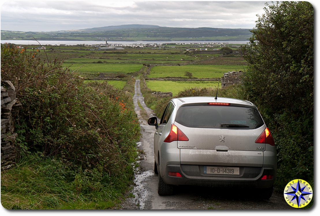 car on ireland country road