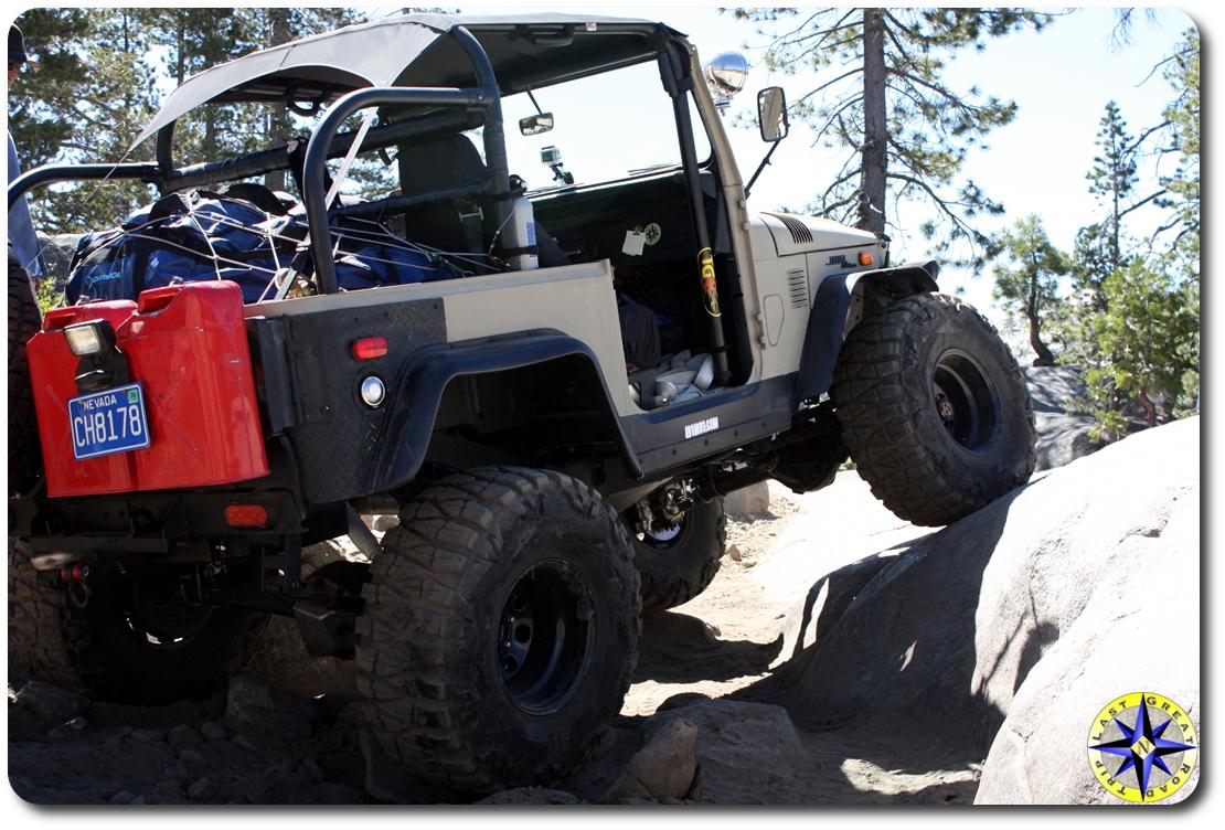 fj40 on Rubicon trail