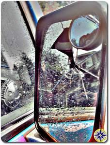 broken fj cruiser mirror
