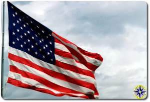 american flag wind