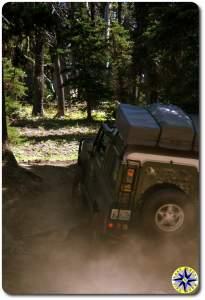 green land rover defender 90