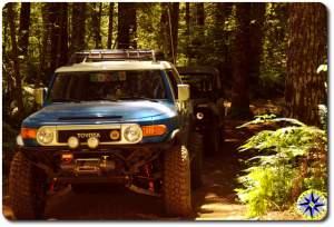 voodoo blue toyota fj cruiser woods