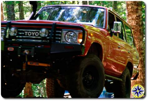 red toyota bj60