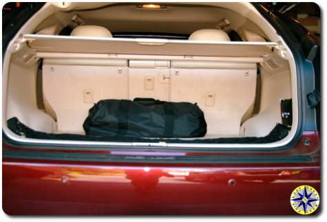 emergency kit trunk of car