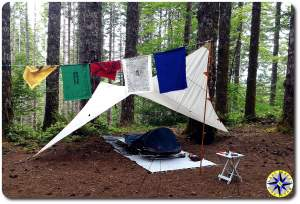 prayer flag tent camping