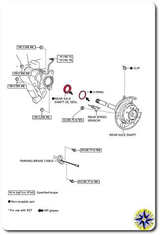 rear axle assembly parts