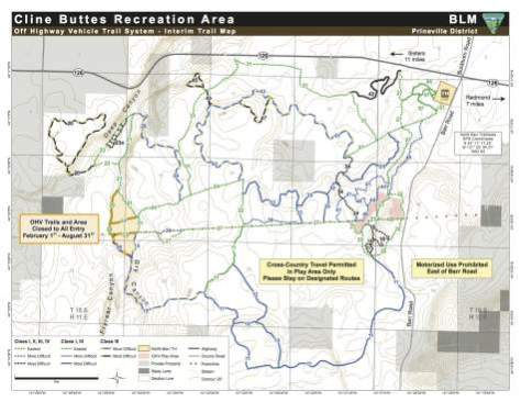 cline buttes recreational area map