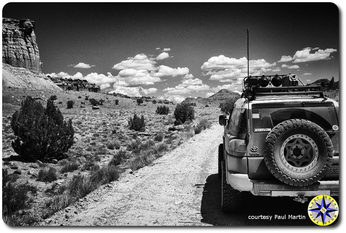 fj cruiser utbdr canyons dirt road