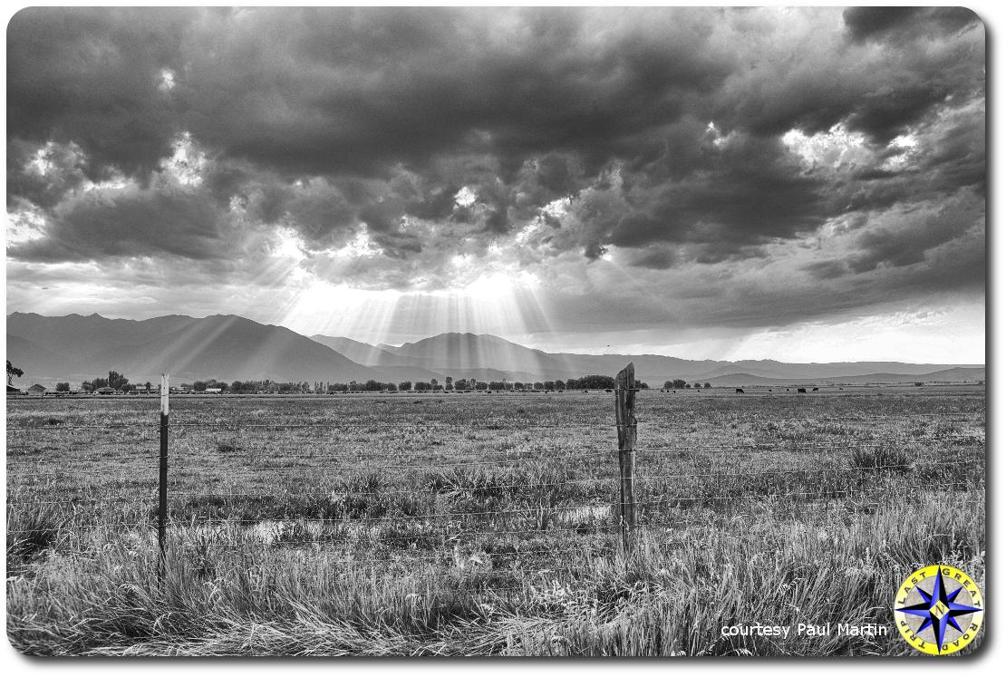 sunlight through storm clouds utah