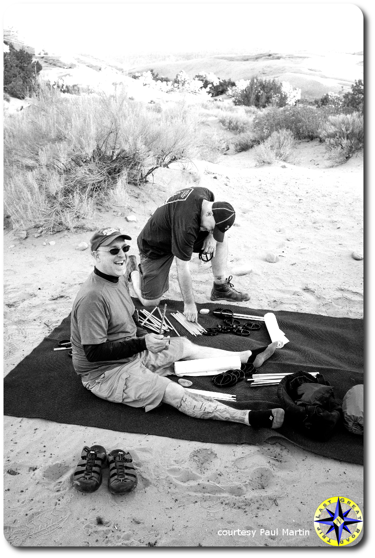 setting up camp in moab