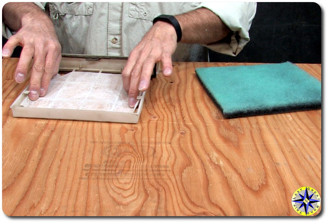 dryer sheet in cabin air filter
