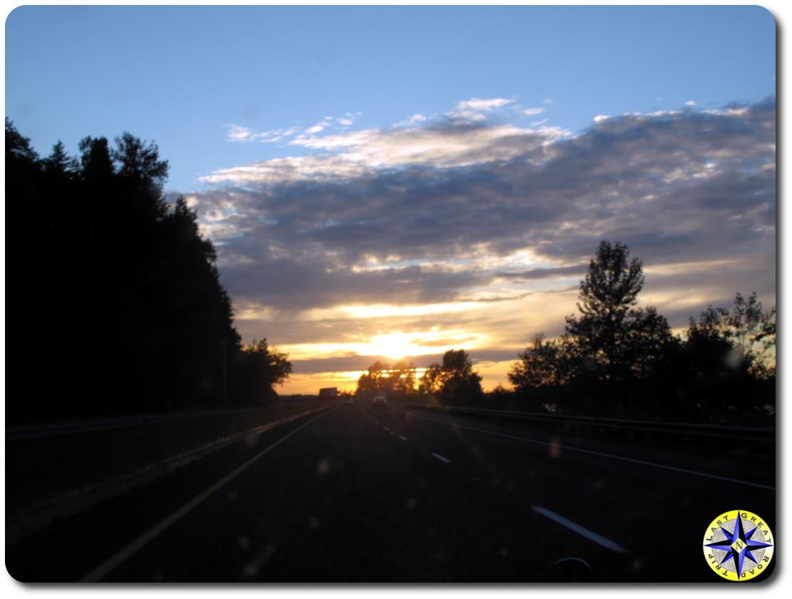 I84 sunset