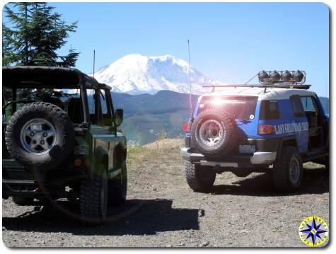 land rover d90 toyota fj cruiser mt jefferson