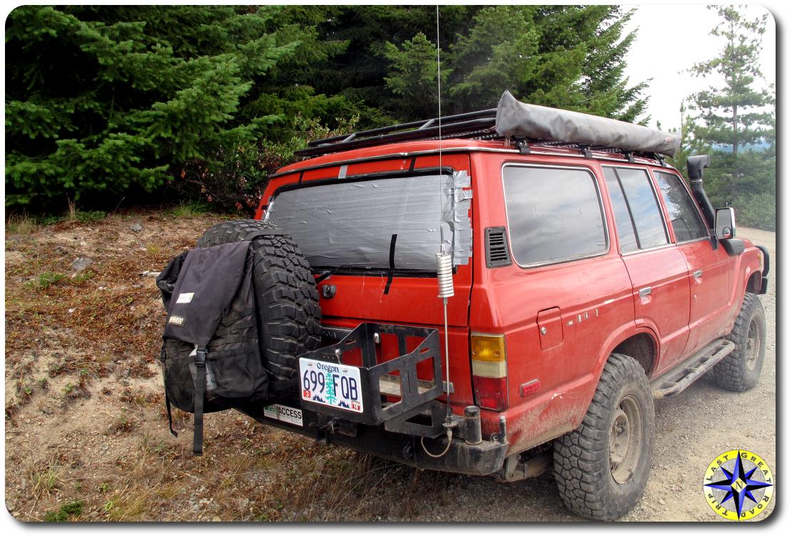 toyota bj60 duct tape rear window repair