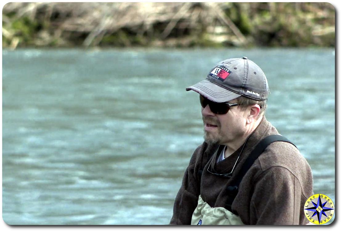 fisherman in river