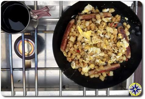 camping breakfast partner steel