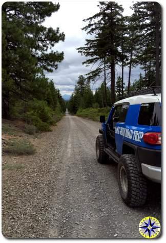 toyota fj cruiser long forest road