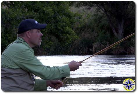 fly fisherman deschutes river warm springs