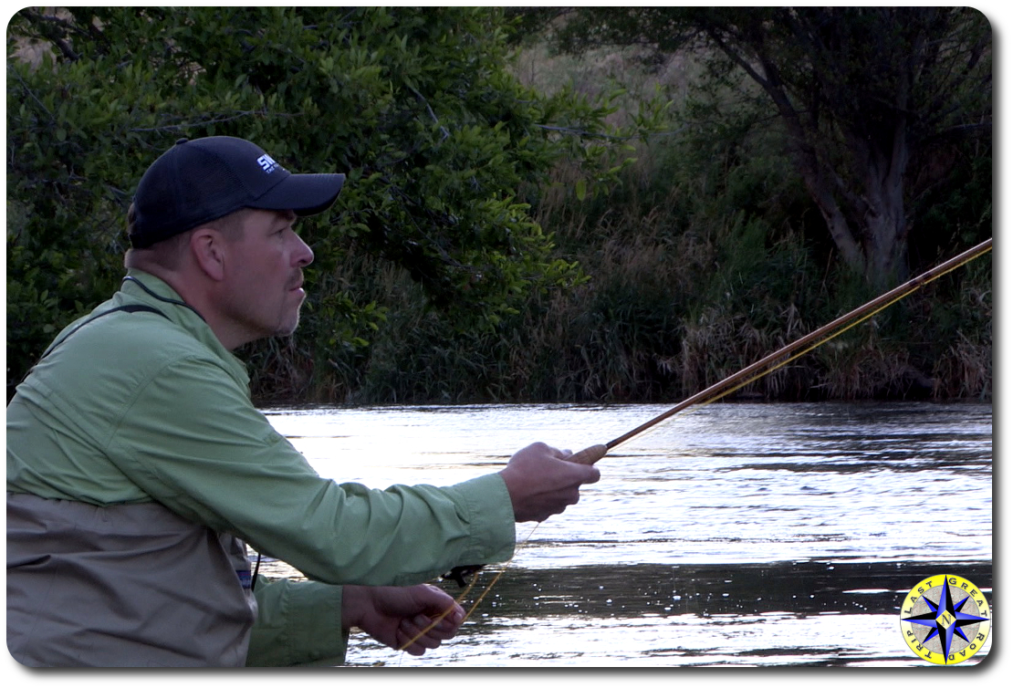 fly fisherman deschutes river warm springs