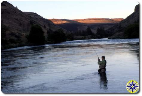 fly fishing deschutes river warm springs