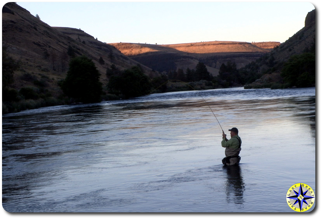 fly fishing mecca flats on the descutes river overland
