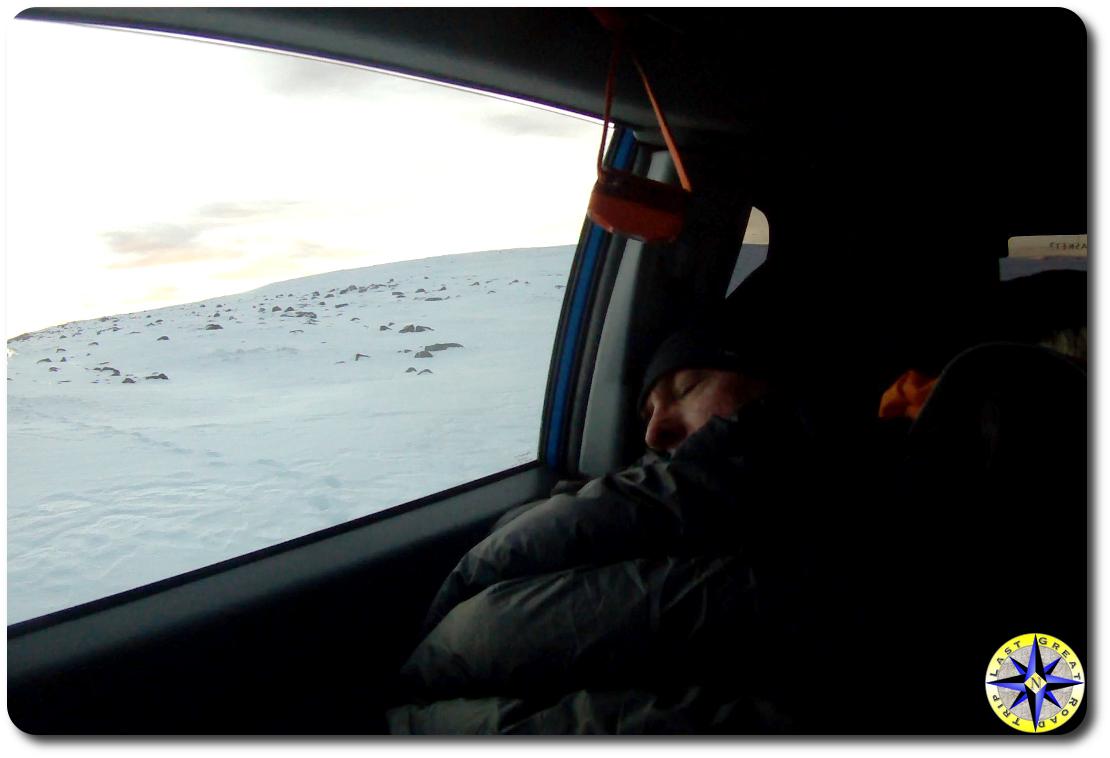 Asleep in the car
