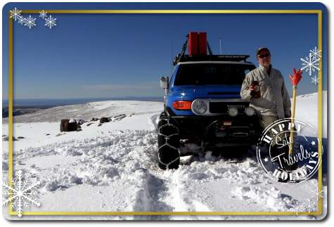 Happy Holidays fj cruiser snow