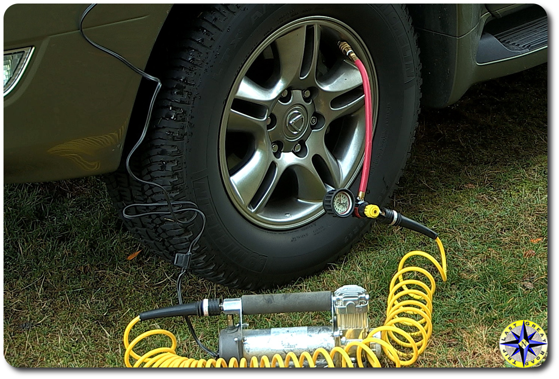 automatic tire inflator in action