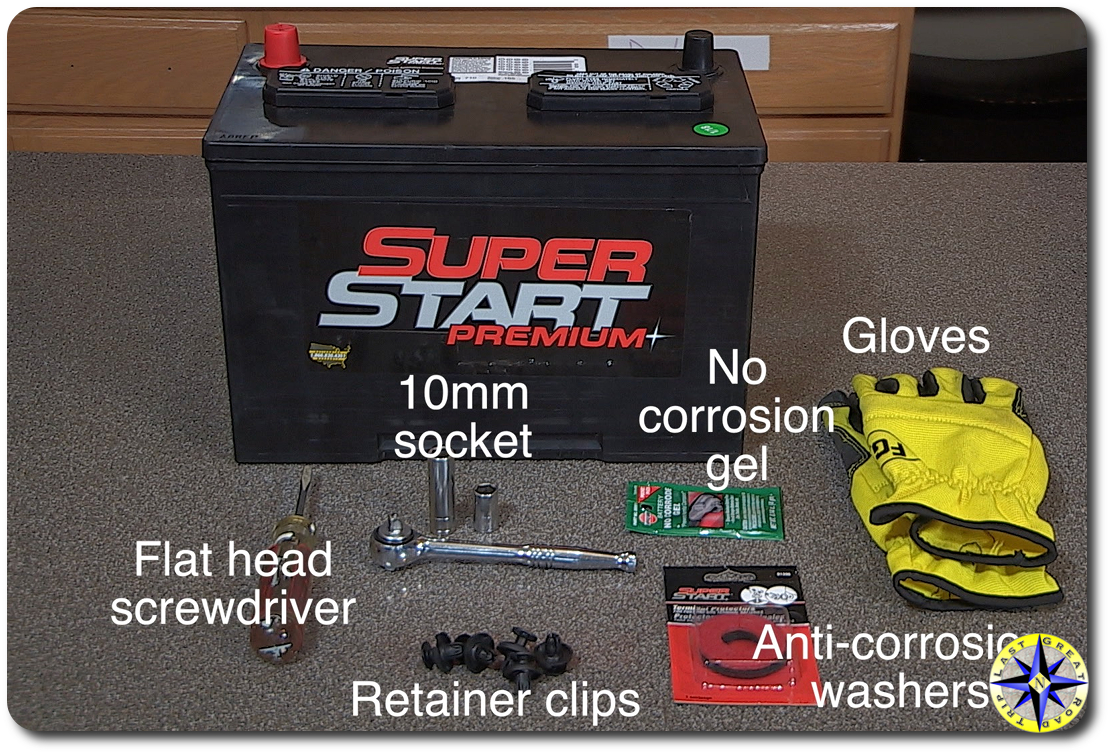 Battery replacement tool list
