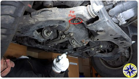 lexus GX470 front differential fill plug