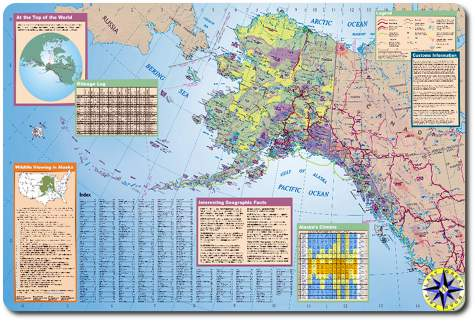 alaska state tourist map