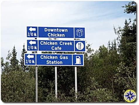 chicken alaska sign