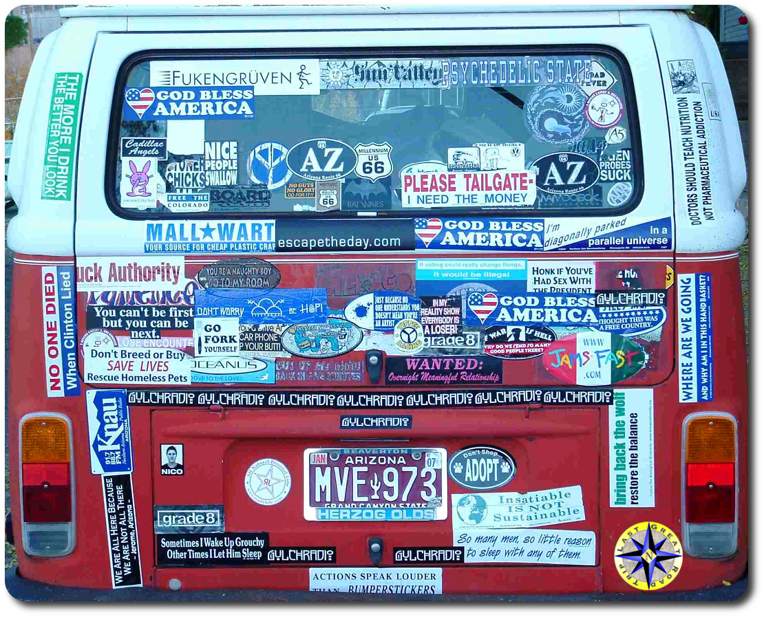 car bumper stickers