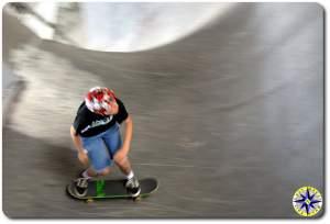 half pipe burnside skate park