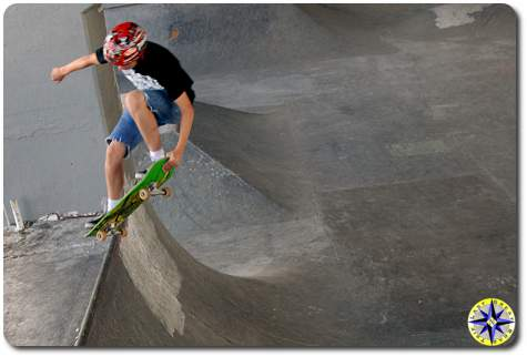 boy skating burnside skate park