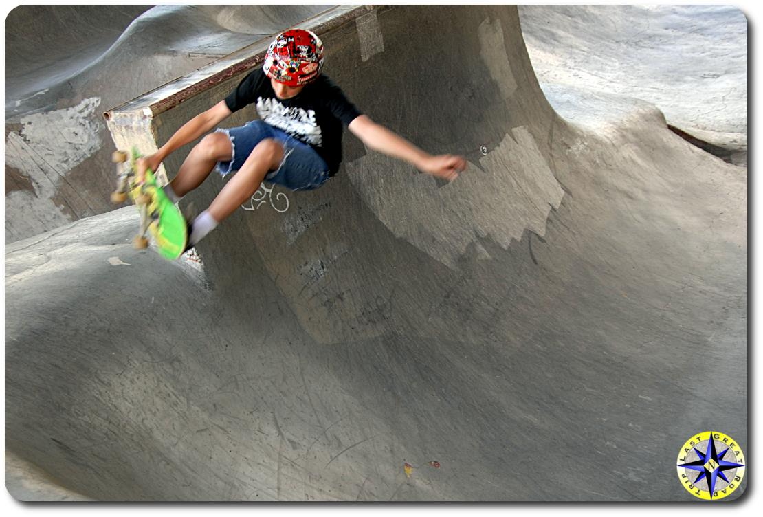 skating burnside skate park