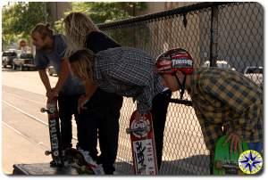 Chad Muska Levi Brown Tosh Townend burnside skate park