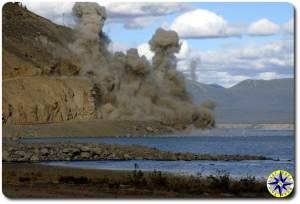 demolition arctic dirt road
