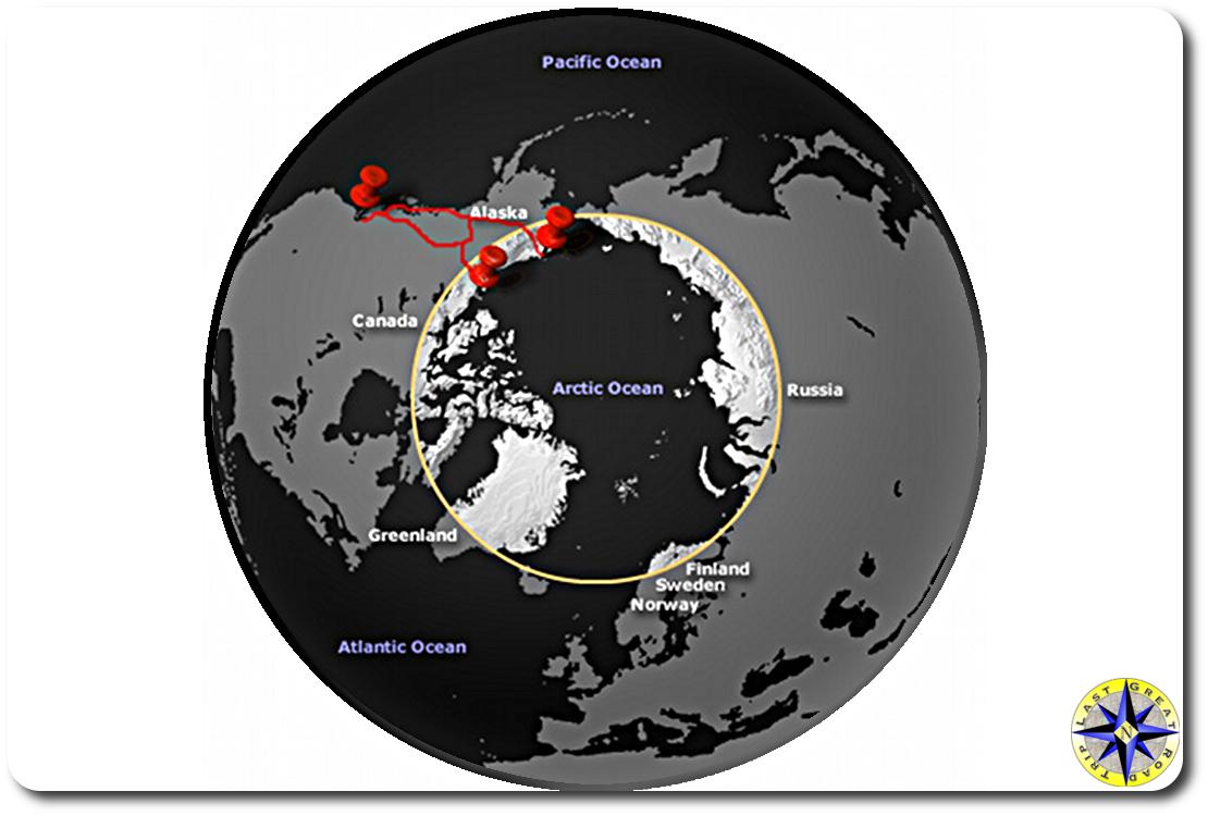 arctic circle globe