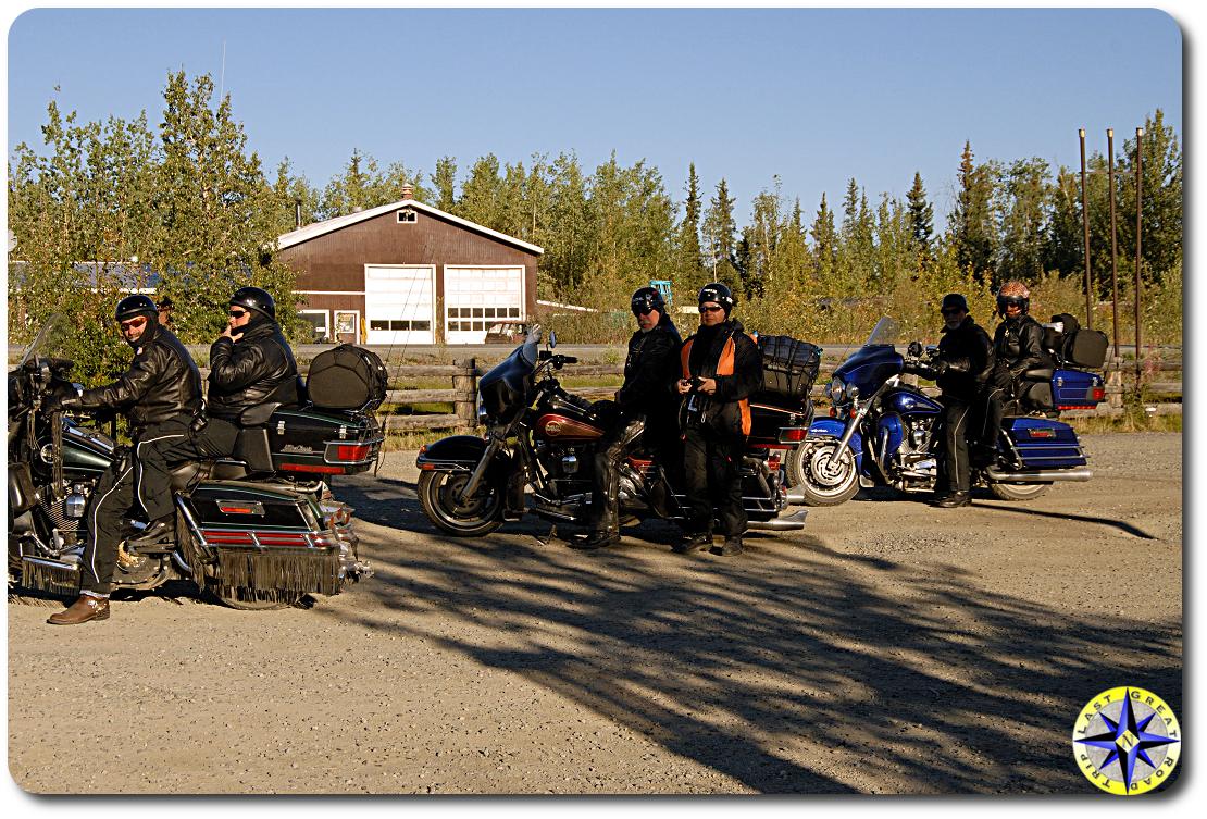 motorcylists Beaver Creak alaska