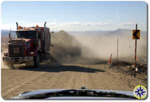 18 wheeler on dempster highway