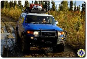 fj cruiser muddy trail fall colors 6