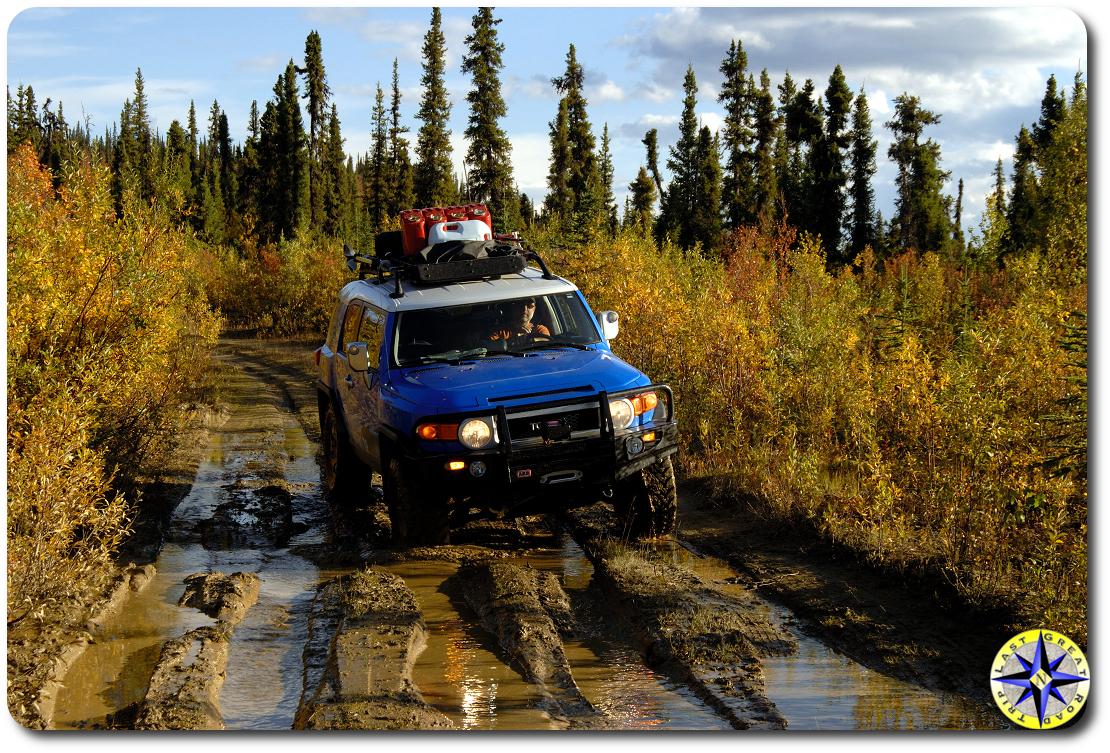 fj cruiser muddy trail fall colors 2