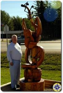 grupm wood sculpture