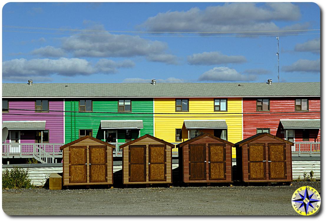 inuvik canada row houses