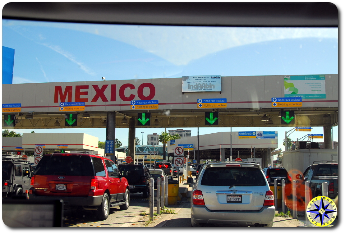 USA Mexico border crossing
