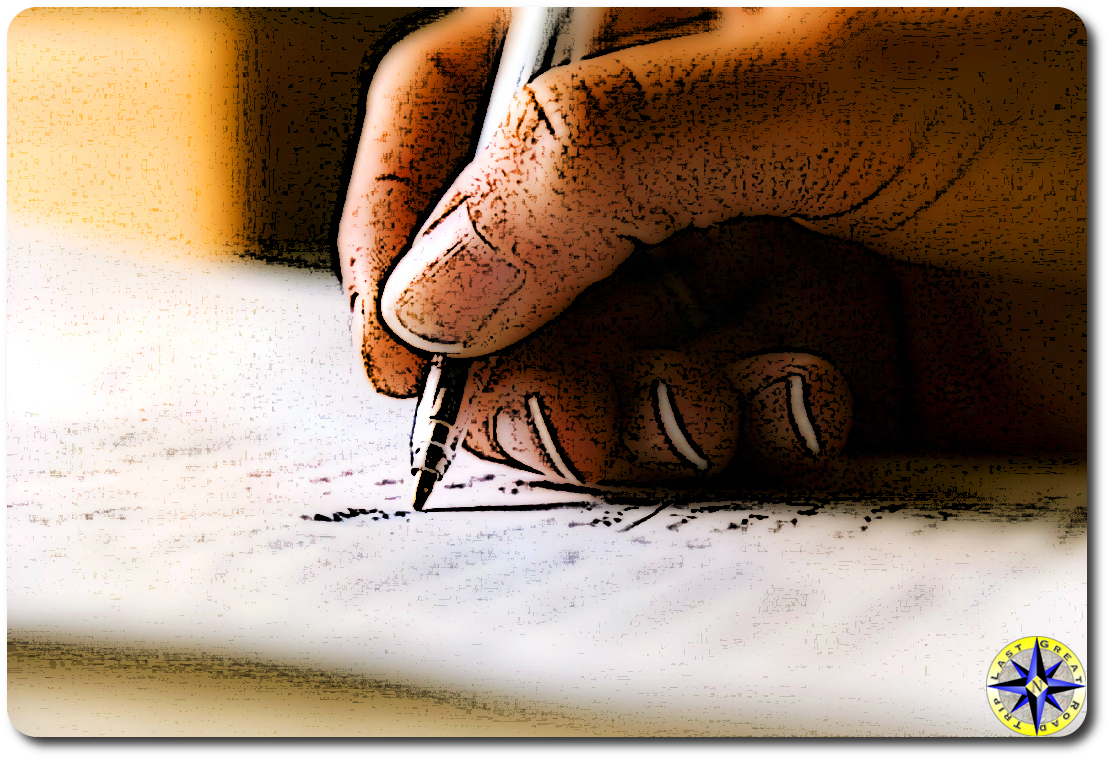 pen and paper cartoon