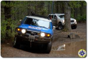 fj cruiser tahuya forest jeep