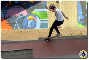 tail slide skateboarding