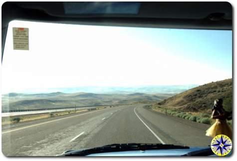 road trip highway view